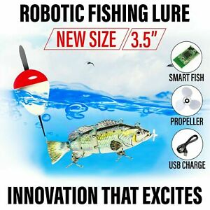 NEW 3.5quot; Electric Live bait Robotic Fishing Lure Swimming Wobbler Bass Bait