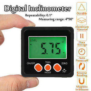 LCD Digital Protractor Angle Finder Bevel Level Box Inclinometer Meter Magnetic $14.99