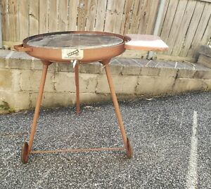 Vintage Bar B Bowl Outdoor Grill Portable Mid Century Tripod Bar B Que Cookout $184.50