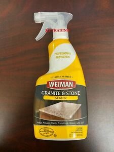 Weiman GRANITE STONE MARBLE SEALER Invisible Protective Barrier Resist Stains $25.95