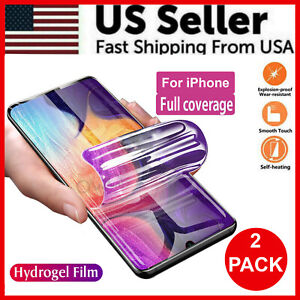 2PCS Hydrogel Screen Protector For iPhone 13 12 11 8 7 X XS XS Max XR Pro Max $4.79
