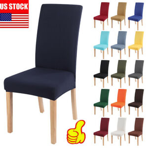 Stretch Dining Chair Covers Slipcovers Removable Banquet Protective Cover Decor $10.92