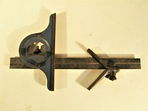 Vintage Machinist#x27;s Adjustable Square With Sliding Miter Attachment Swanson $24.00