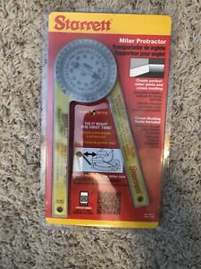 Starrett 505P 7 Miter Saw Protractor Pro Site Series Free Shipping $19.99