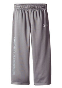 New Under Armour Little Boys Armour Pants Grey Size:4 $19.99