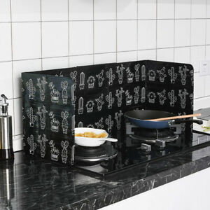 Folding Kitchen Cooking Oil Splash Screen Cover Anti Splatter Stove Shield Guard $7.99