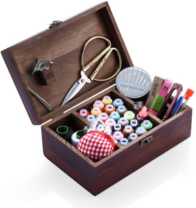 Wooden Sewing Kits Sewing Boxes and Baskets with Sewing Accessories Kit Good fo $48.99