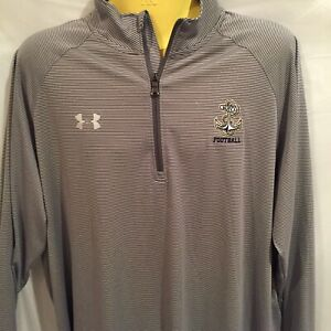 Navy Football Under Armour XL Loose Fit Heat Gear Long Sleeve 1 4 Zip Pullover . $30.00