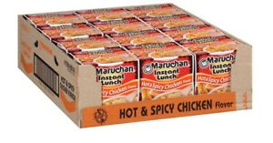 Maruchan Instant Lunch Hot amp; Spicy Chicken Flavor Ramen Noodle Soup 12 Pack Cups $25.18