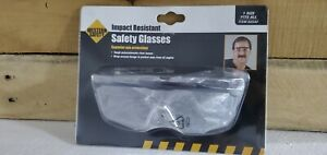 WESTERN SAFETY CLEAR LENS WRAPAROUND SAFETY GLASSES NEW $10.90