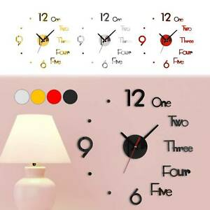 Large Wall Clock Big Watch Decal 3D Stickers Roman Numerals DIY Wall Modern Home $4.99