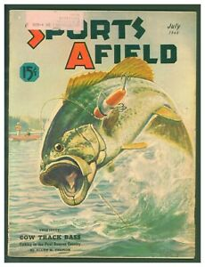 Vintage July 1940 Sports Afield Hunting amp; Fishing Bass Fishing Cover