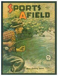 Vintage April 1941 Sports Afield Hunting amp; Fishing Fishing Cover