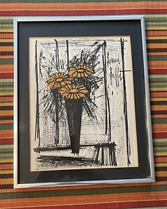 Flower By Bernard Buffet: Original Lithograph quot;Certificate Of Authenticationquot; $65.00