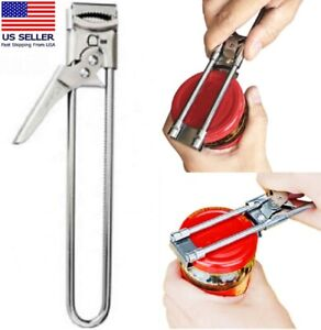 Adjustable Multifunctional Stainless Steel Can Opener Jar Lid Gripper Kitchen $8.40