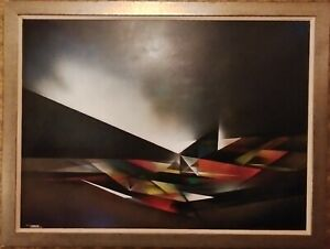 Nierman Original oil Painting in board Large 53.5quot; by 41quot; Signed $1898.00