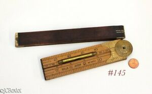 boxwood brass LUFKIN 863 L bubble level RULE RULER TOOLS $70.00