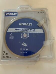 """Kobalt 7"""" Wet Continuous Diamond Saw Blade for Cutting Glass Tiles Porcelain $14.99"""