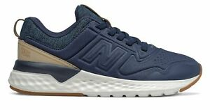 New Balance Kids 515 Sport Little Kids Male Shoes Navy with Off White $27.49