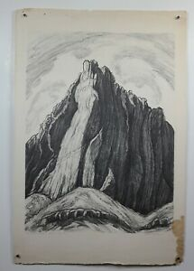 Rare Fanny Adele Watson signed quot;The watchman Zionquot; lithograph 1930 LE 38 50 $199.99