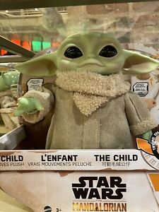 Mandalorian The child Baby Yoda motoriced With Remote Control amp; Free Lithograph $109.99
