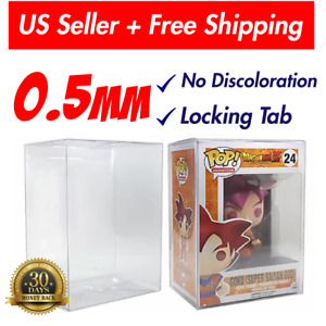 Lot 5 10 20 Collectible Funko Pop 0.5mm Protector Case for 4quot; inch Vinyl Figures