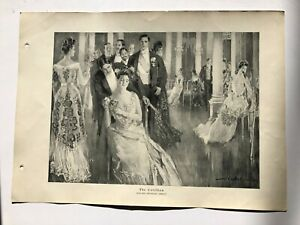 The Cotillion by Howard Chandler Christy 1914 Signed Antique Lithograph $18.00