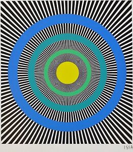 ISIA LEVIANT HAND SIGNED 1985 LITHOGRAPH KINETIC OP ART Enigma series $69.50