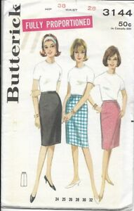 Butterick 3144 dated 1967 for a fully proportioned skirt waist 28quot;
