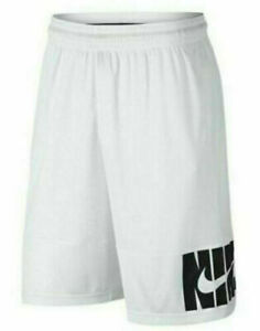 NEW Nike Dry Verbiage Basketball Shorts White Black CD7099 100 NWT Size Large $28.11