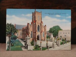 Vintage Linen Postcard Old Immaculate Conception Church Brownsville Texas