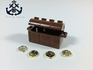 Lego COMPLETE SET Vintage Brown Chest w 10 20 30 40 Gold Chrome Coins Pirate