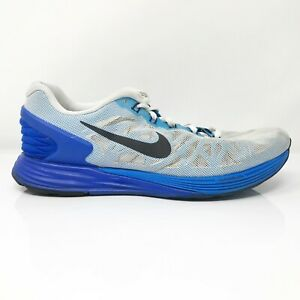 Nike Mens Lunarglide 6 654433 104 Gray Blue Running Shoes Lace Up Size 11 $44.99