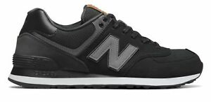 New Balance Men#x27;s 574 Shoes Black with Grey