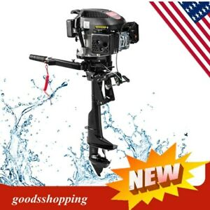 6HP Outboard Motor Fishing Boat Engine amp; 4 Stroke Air COOLED Single Cylinder