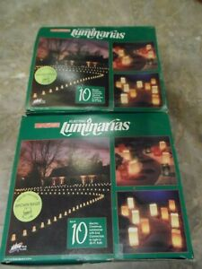 2 Electric Luminarias 20 Lights 60#x27; Brown BagsHoliday Path Outdoor LED NEW