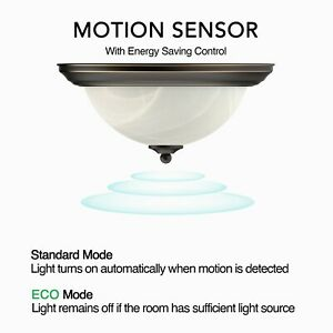11 13 Motion LED Flush Mount Round Ceiling Light Oil Rubbed Bronze 3000K 4000K