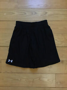 Boys Black Drawstring Under Armour Shorts Youth M $14.00
