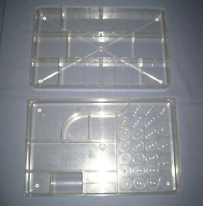 Lot 2 VTG Wilson Wil Hold Plastic Sewing Basket Box Replacement Trays $18.99