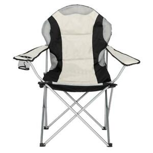 Camping Folding Chair Outdoor BBQ Stool Beach Fishing Seat with Cup Holder