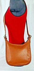 COACH VINTAGE JANICE LEGACY 9950 CROSSBODY BROWN LEATHER 100% AUTHENTIC FREE S H