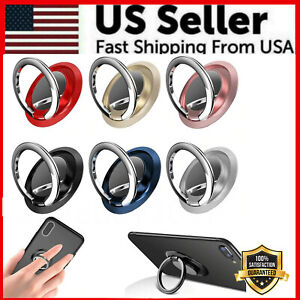 Finger Ring Holder Stand Grip 360° Rotating For Cell Phone Car Magnetic Mount $1.95