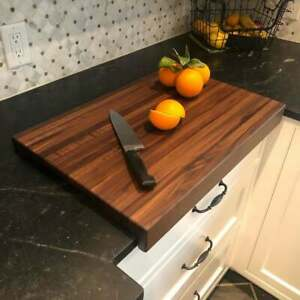 Large hardwood cutting kneading pastry board w stability edge FREE SHIPPING