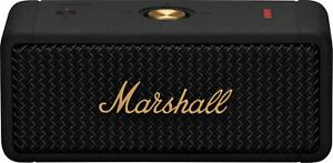 Marshall Emberton Portable Bluetooth Speaker Black amp; Brass $149.99