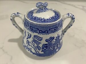 Sere China England Engraved For Wridgway amp; CO 1832 Sugar Tea Pot Antique Vintage