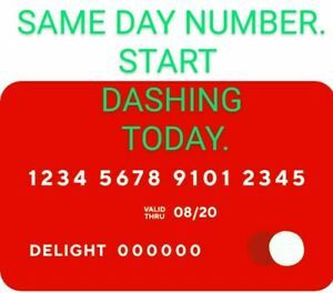 DoorDash Official Red Card SAME DAY CARD NUMBERS $15.99