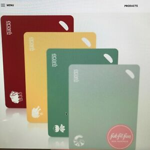 Epare Cutting Board Set Of 4 color coded bpa free FabFitFun New $7.80