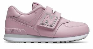 New Balance Kids 574 Hook and Loop Big Kids Female Shoes Purple with Grey Size $32.89
