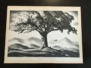 Vintage Rockwell Kent The Tree Pinnacle 1933 Lithograph Art Print Modern MCM $22.50