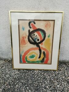 AfterJoan Miro Lithograph signed in Plate $350.00
